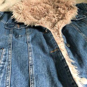 Forever 21 Faux Fur Denim Jacket